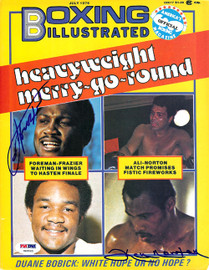 Joe Frazier & Ken Norton Autographed Boxing Illustrated Magazine Cover PSA/DNA #S48565