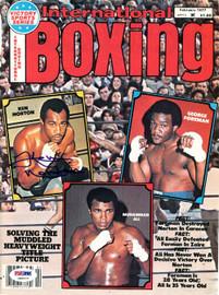 Ken Norton Autographed International Boxing Magazine Cover PSA/DNA #S48572