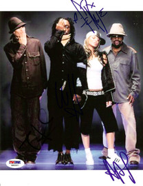 Black Eyed Peas Autographed 8x10 Photo Fergie, will.i.am, Taboo & apl.de.ap PSA/DNA #S00337