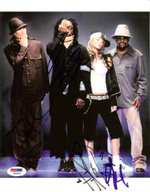 Black Eyed Peas Autographed 8x10 Photo Fergie, will.i.am, Taboo & apl.de.ap PSA/DNA #S00402