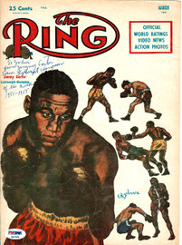 """Jimmy Carter Autographed The Ring Magazine Cover """"To John"""" PSA/DNA #S47501"""