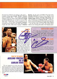 Diego Corrales Autographed Magazine Page Photo PSA/DNA #S47519
