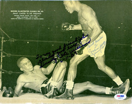 Ike Williams & Jimmy Carter Autographed Magazine Page Photo To John PSA/DNA #S48727