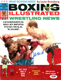 Archie Moore Autographed Boxing Illustrated Magazine Cover PSA/DNA #S48857