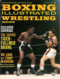 Gene Fullmer Autographed Boxing Illustrated Magazine Cover PSA/DNA #S48996