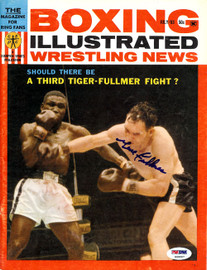 Gene Fullmer Autographed Boxing Illustrated Magazine Cover PSA/DNA #S49007