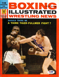 Gene Fullmer Autographed Boxing Illustrated Magazine Cover PSA/DNA #S49009