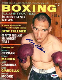 Gene Fullmer Autographed Boxing Illustrated Magazine Cover PSA/DNA #S49010