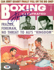 Joe Frazier Autographed Boxing Illustrated Magazine Cover PSA/DNA #S48735