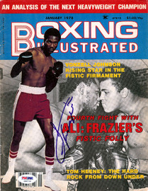 Joe Frazier Autographed Boxing Illustrated Magazine Cover PSA/DNA #S48736