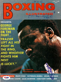 Joe Frazier Autographed Boxing Illustrated Magazine Cover PSA/DNA #S48956