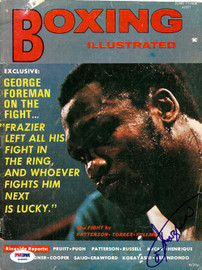 Joe Frazier Autographed Boxing Illustrated Magazine Cover PSA/DNA #S48960