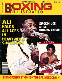 Joe Frazier Autographed Boxing Illustrated Magazine Cover PSA/DNA #S48973