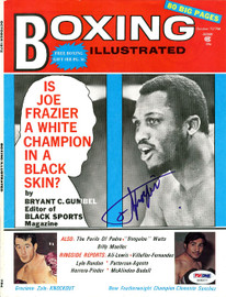 Joe Frazier Autographed Boxing Illustrated Magazine Cover PSA/DNA #S48977