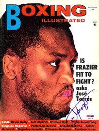 Joe Frazier Autographed Boxing Illustrated Magazine Cover PSA/DNA #S48978