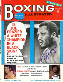 Joe Frazier Autographed Boxing Illustrated Magazine Cover PSA/DNA #S48980