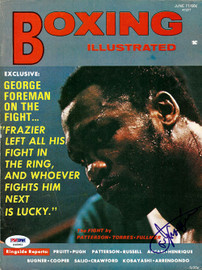 Joe Frazier Autographed Boxing Illustrated Magazine Cover PSA/DNA #S48983