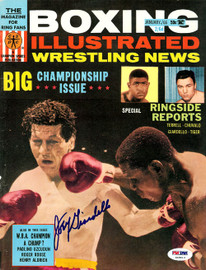 Joey Giardello Autographed Boxing Illustrated Magazine Cover PSA/DNA #S49013