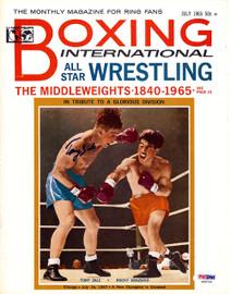 Tony Zale Autographed International Boxing Magazine Cover PSA/DNA #S48752