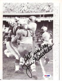 Jim Mutscheller Autographed 7x9 Photo Baltimore Colts PSA/DNA #S40960