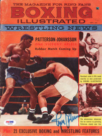 Ingemar Johansson Autographed Boxing Illustrated Magazine Cover PSA/DNA #S42586