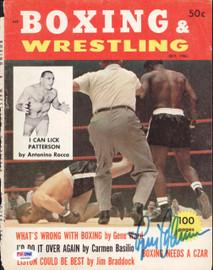 Ingemar Johansson Autographed Boxing & Wrestling Magazine Cover PSA/DNA #S42589