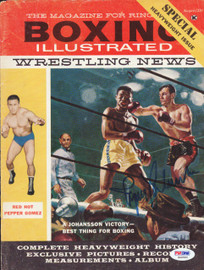 Ingemar Johansson Autographed Boxing Illustrated Magazine Cover PSA/DNA #S42593