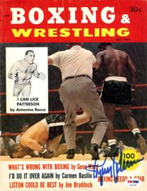 Ingemar Johansson Autographed Boxing & Wrestling Magazine Cover PSA/DNA #S49187
