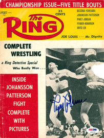 Ingemar Johansson Autographed The Ring Magazine Cover PSA/DNA #S49189