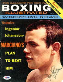 Ingemar Johansson Autographed Boxing Illustrated Magazine Cover PSA/DNA #S49197