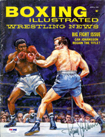 Ingemar Johansson Autographed Boxing Illustrated Magazine Cover PSA/DNA #S49200