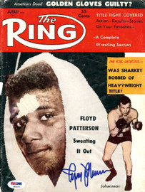 Ingemar Johansson Autographed The Ring Magazine Cover PSA/DNA #S49201