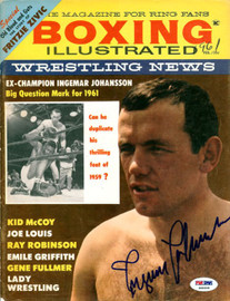 Ingemar Johansson Autographed Boxing Illustrated Magazine Cover PSA/DNA #S49206