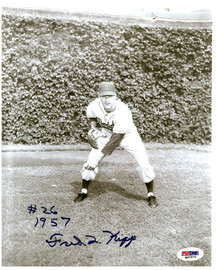 Fred Kipp Autographed 8x10 Photo Brooklyn Dodgers PSA/DNA #M60870