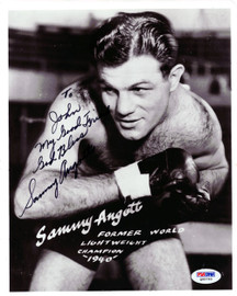 "Sammy Angott Autographed 8x10 Photo ""To John"" PSA/DNA #Q95793"