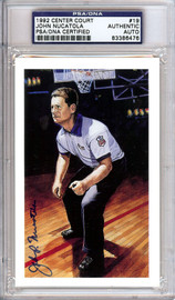 John Nucatola Autographed 1992 Center Court Card #19 PSA/DNA #83386476