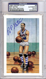 Pop Gates Autographed HOF Postcard PSA/DNA #83386482