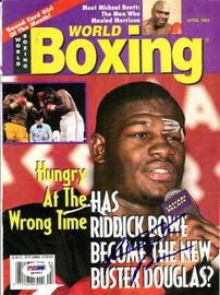 Riddick Bowe Autographed Boxing World Magazine Cover PSA/DNA #Q95952