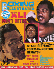 Muhammad Ali, George Foreman & Ken Norton Autographed Boxing Illustrated Magazine Cover PSA/DNA #S01539