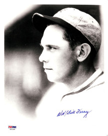 William Bill Terry Autographed 8x10 Photo New York Giants PSA/DNA #S51909