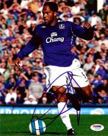 Joleon Lescott Autographed 8x10 Photo Everton PSA/DNA #U54228