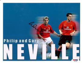 Phil Neville Autographed 8x10 Photo England PSA/DNA #U54304