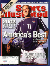 Clint Mathis Autographed Magazine Cover Team USA PSA/DNA #U54569