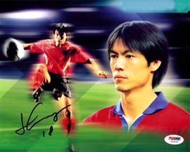 Hong Myung-Bo Autographed 8x10 Photo PSA/DNA #U54631