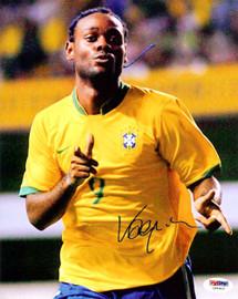 Vagner Love Autographed 8x10 Photo Brazil PSA/DNA #U54910