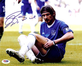 Alessandro Pistone Autographed 8x10 Photo Everton PSA/DNA #U54991