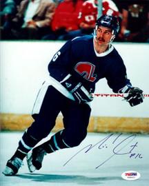 Michael Goulet Autographed 8x10 Photo Quebec Nordiques PSA/DNA #U58852