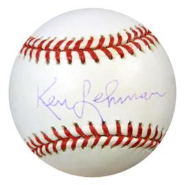 Ken Lehman Autographed NL Baseball Brooklyn Dodgers PSA/DNA #U58684