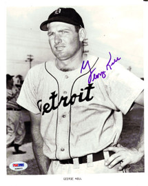 George Kell Autographed 8x10 Photo Detroit Tigers PSA/DNA #K08005