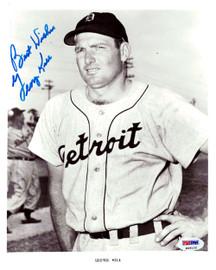 George Kell Autographed 8x10 Photo Detroit Tigers PSA/DNA #K08122